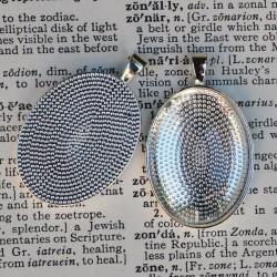 10 x DIY oval pendant kit...