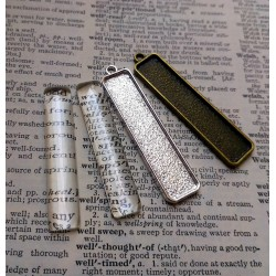10 x DIY Rectangle pendant...