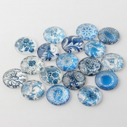 10 x 16mm Blue and White...